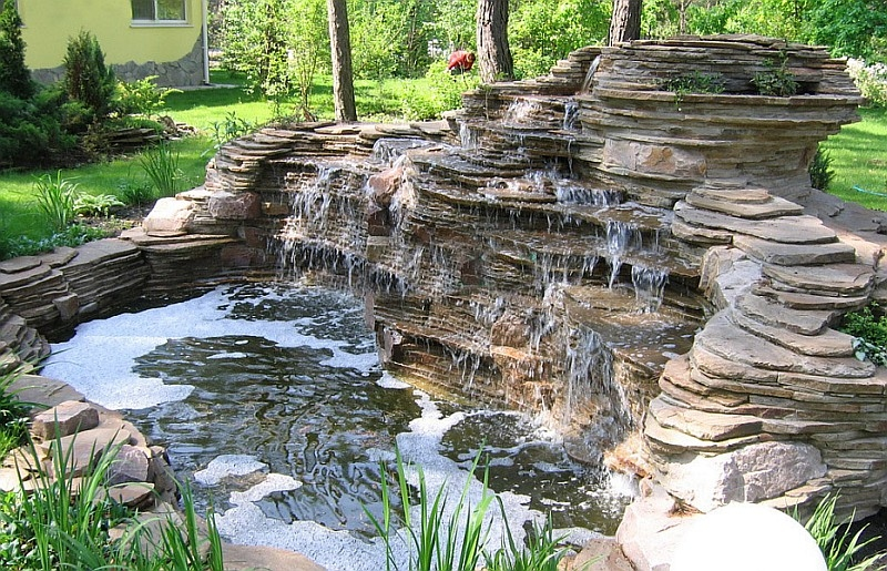 Каскад водопада своими руками